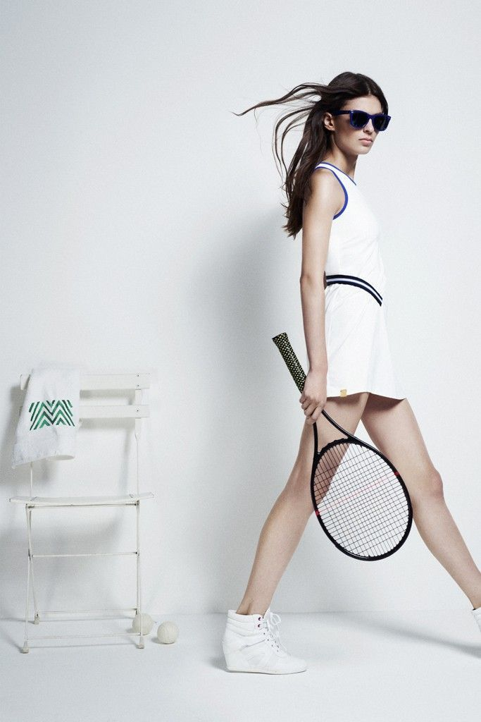 Tennis has become a big market in fashion. Tennis apparel is very expensive and men and women's clothes are spoken about among the pro's.