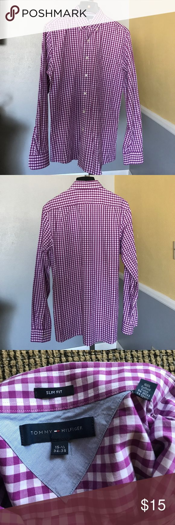 Tommy Hilfiger slim fit dress shirt 15.5 34-35 Worn once. Tommy Hilfiger Shirts Dress Shirts