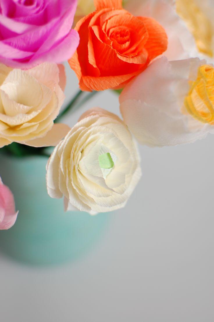 Best 24 Paper Flowers Ranunculus Images On Pinterest Flower