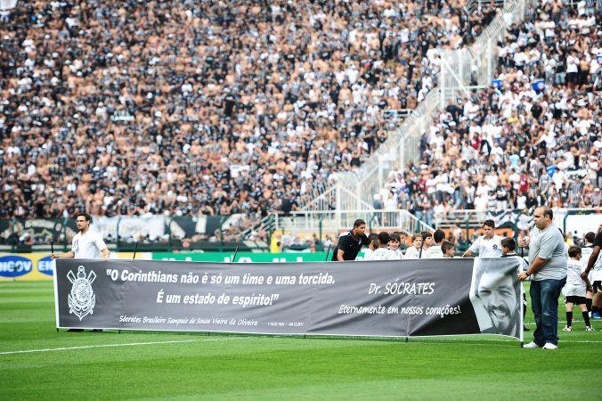 Sport Club Corinthians Paulista - Corinthians fez homenagem ao Sócrates no dia do falecimento do ex-jogador.
