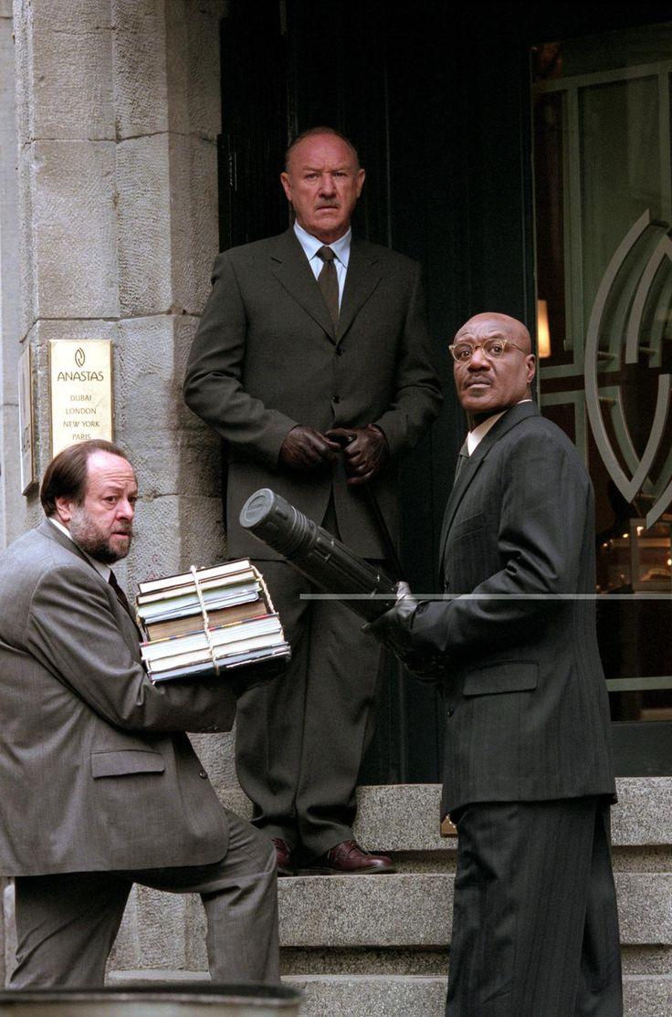 HEIST- Ricky Jay, Gene Hackman, and Delroy Lindo.