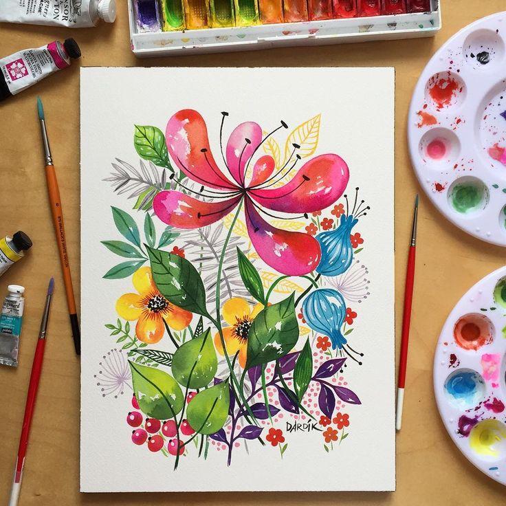 Beautiful watercolour by Helen Dardik