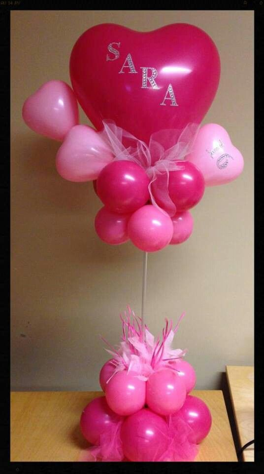 336 best Balloon Center piecesCentros de mesa images on Pinterest