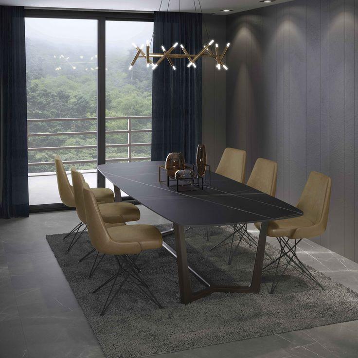 #Azalai #iTOPKer para #bancadas y #sobres de #mesa es un mármol noble cuya intensidad y fuerza son sinónimo de elegancia y exclusividad. Las vetas en colores blancos y anaranjados sobre un fondo negro componen una superficie espectacular.