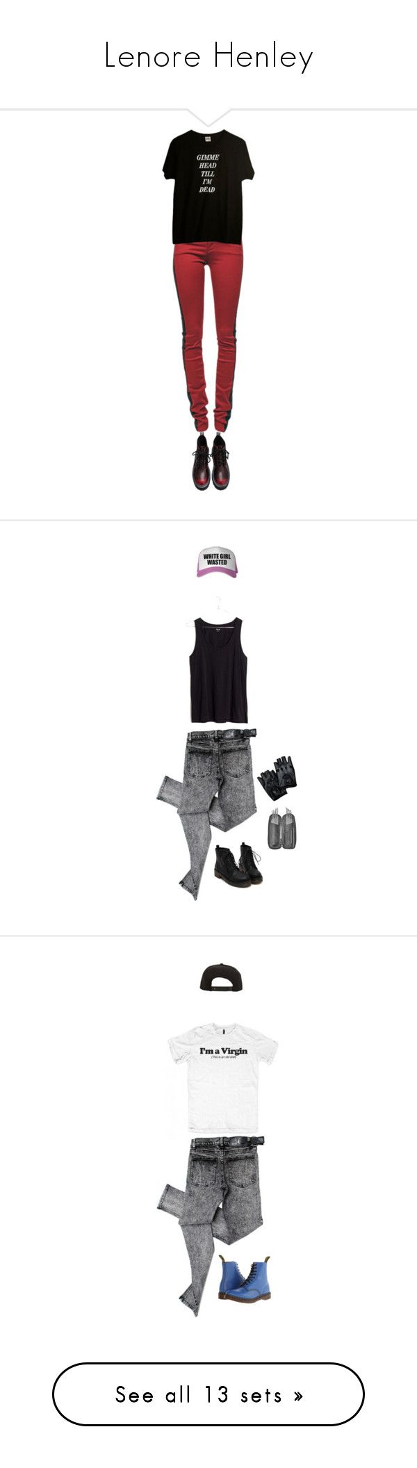 """""""Lenore Henley"""" by dollygirlluv ❤ liked on Polyvore featuring Current/Elliott, Madewell, Cheap Monday, Dr. Martens, Roark, Converse, Free People, Majesty Black, ElevenParis and Levi's"""