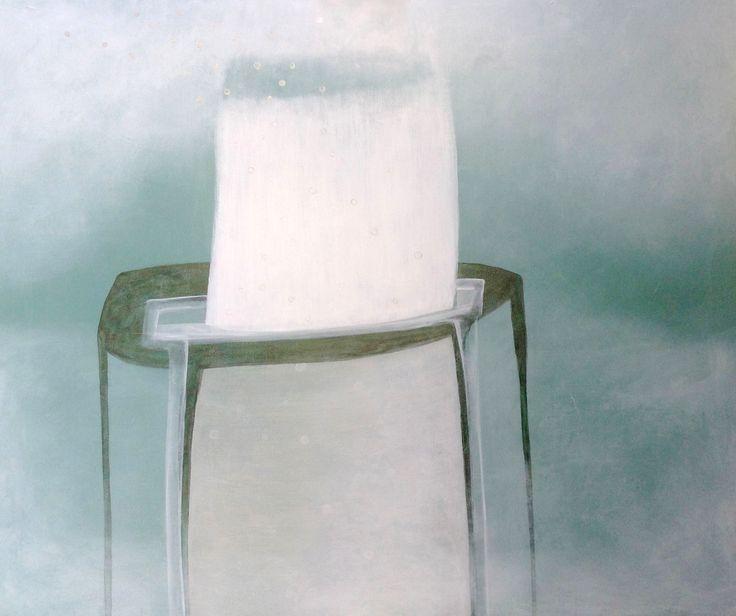 'Bubbles coming up', 115 x 115 cm, acryl op doek, 850,00 euro