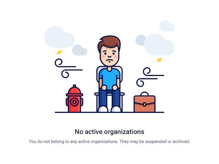 No active Organization Illustration for Hubstaff.com