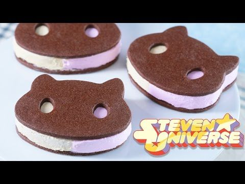 COOKIE CAT ICE CREAM SANDWICHES - STEVEN UNIVERSE - NERDY NUMMIES - YouTube