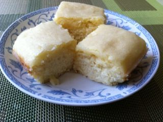 Lemon Crunch Cake Recipe (The Sweet Spot), batter made with self-rising flour