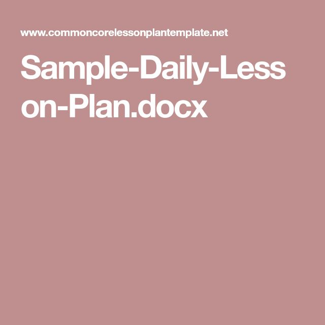 The 25+ best Lesson plan sample ideas on Pinterest Sample of - sample daily lesson plan template