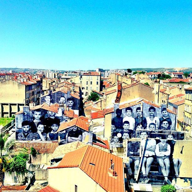 """JR, La Friche belle de mai, """"unframed"""", streetart, Marseille #Mp2013 #siropderue - www.jr-art.net/projects"""
