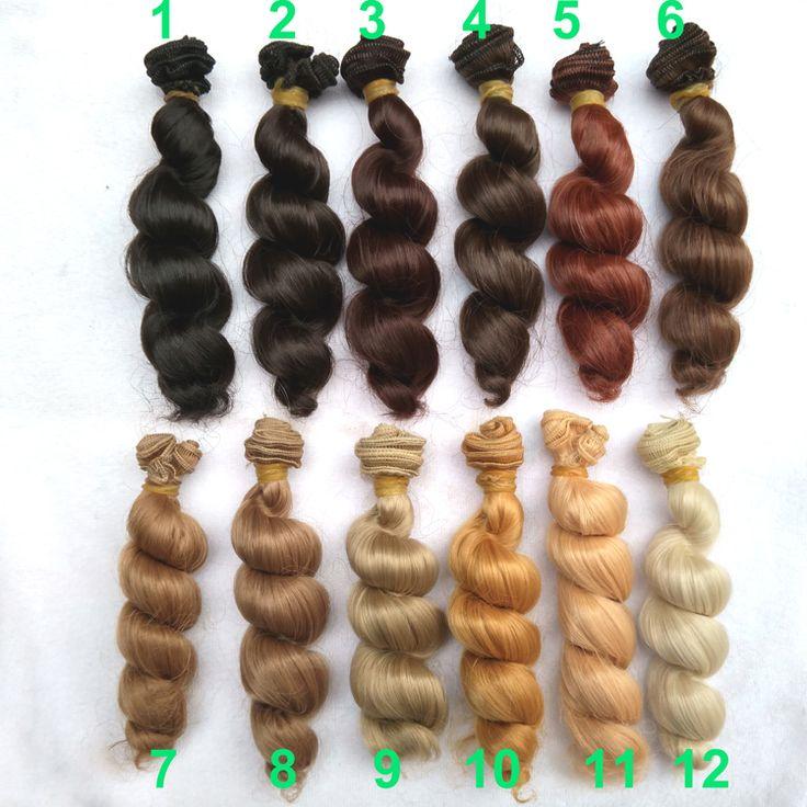 Купить 1 шт. 15 см х 100 см коричневый льняное кофе черный коричневый натуральный цвет высокая температура вьющиеся кукла парик волос для 1/3 1/4 1/6 BJD diyи другие товары категории Аксессуары для куколв магазине Top1 Fashion storeнаAliExpress. парик короткие волосы и парик волос