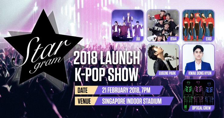 Catch your favourite K-Pop stars JBJ, B1A4, EXID, Eugene Park, Kwak Dong Hyun and Optical Crew, all for FREE!