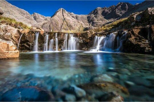 Isla skye, Escocia - piscina de las hadas