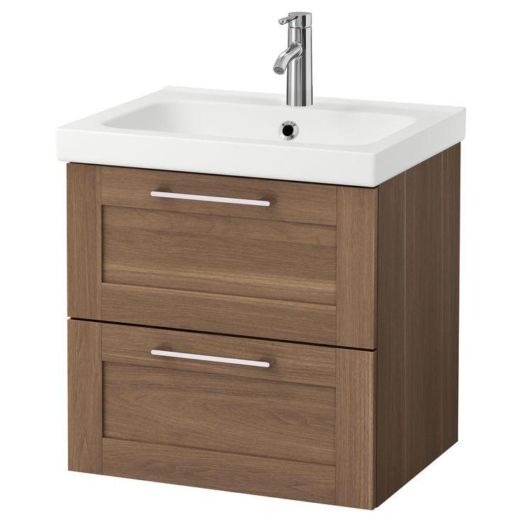 IKEA – GODMORGON / ODENSVIK Sink cabinet with 2 drawers walnut effect