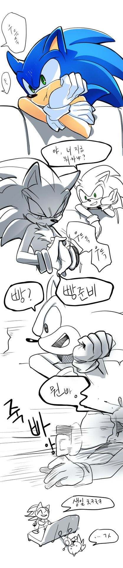 Happy B-day sonic  Sonic: What are you doing Shadow: cracks knuckles, says preparing for bread. Sonic: bread? Shadow: *punches* * mon bread  Happy Birthday! ^^ Sonic: .........thx.... * mon bread is world play from the pronuncication and word of bread instead of preparing bread he punches him.