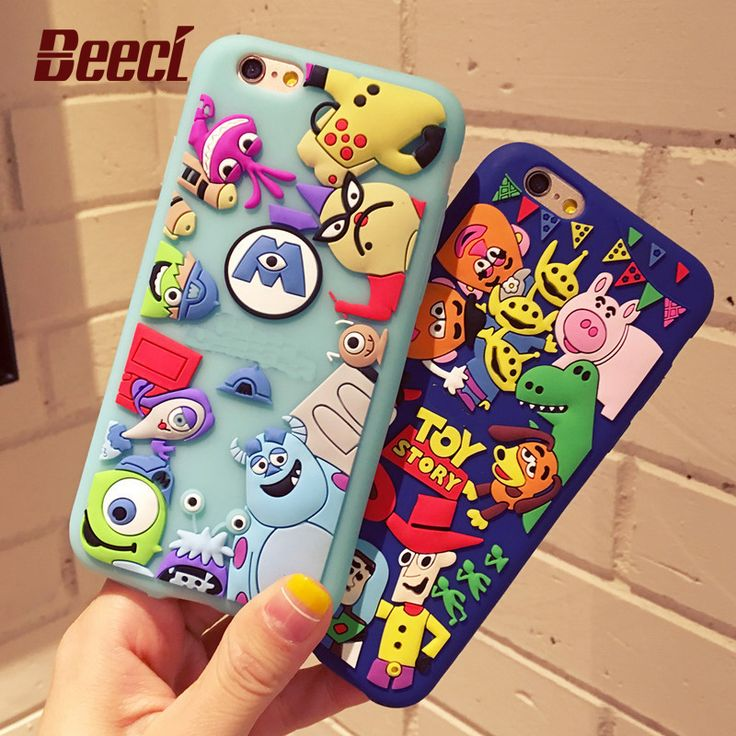 Beeci Cute Cartoon Toy Story 3D Soft Silicone Phone Cases for Apple iPhone 7 6 6s Plus 5 5s SE Back Cover Fundas Coque Bags