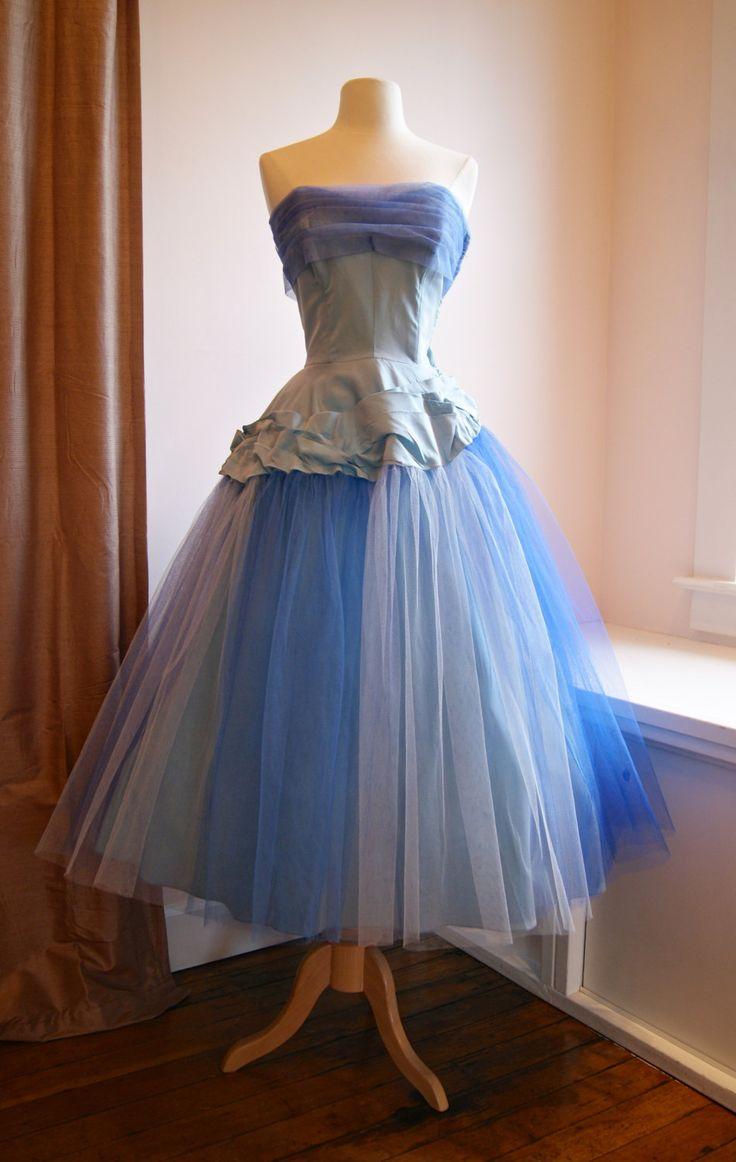 RESERVED//STEPHANIE//50s Prom Dress Vintage 1950s Prom