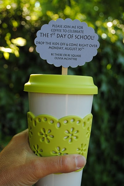 back to school coffee get together for moms