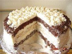 """Кулинарные рецепты от Лики: Торт """"Кокосовый""""6 яиц 80 гр.муки 120 гр сахарного песка 2 ст.л какао 2 ч.л разрыхлителя Для кокосовой начинки: 3 яичных белка 60 гр.сахарного песка 125 гр кокосовой стружки. Для крема: 500 мл.молока 5 ст.л муки , 1 ст.л крахмала 1 плитка белого шоколада (не обязательно) 250 гр .кокоcовой стружки 200-300 гр сливочного масла 100 гр.молока для запарки кокоса. 200 гр сахара."""