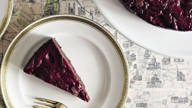 Recipe: Flourless chocolate and black doris plum cake   Cuisine   Stuff.co.nz