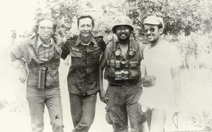 Indonesian military men, in East Timor, probably in 1975-76.