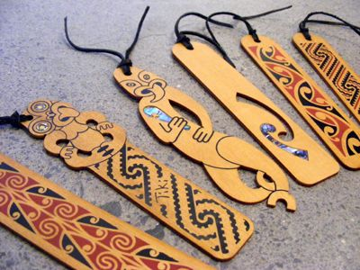 Aoen Kura Gallery Maori Art Design New Zealand Paua Kowhaiwhai Bookmarks