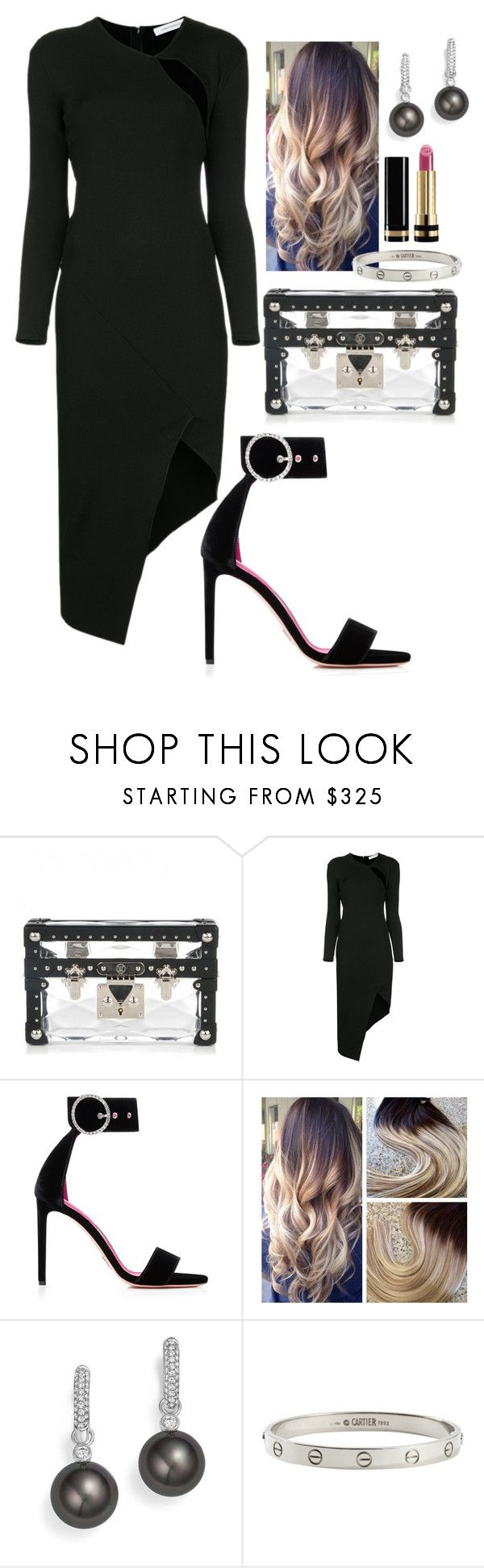 """#61"" by walkonbypolyvore ❤ liked on Polyvore featuring Louis Vuitton, Christopher Esber, Oscar Tiye, Tara, Cartier and Gucci"