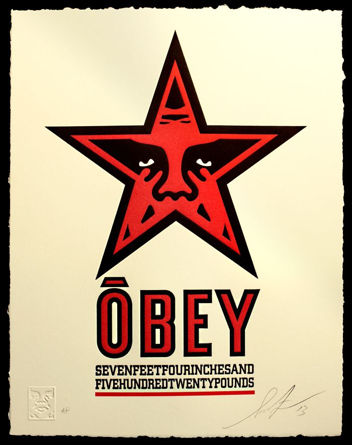 Obey star by obey giant