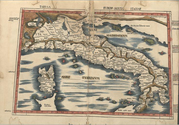 "C.A. 152 V. - 0190 - Ptolomeu (ca 90-ca168) – ""Claudii Ptolemaei viri Alexandrini Mathematicae…"".   Argentinen : Joannis Schotti, 1513. BNP C.A. 152 V."