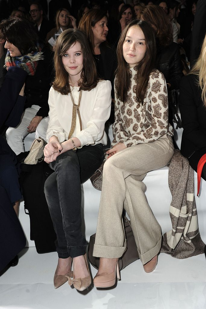 Lou Lesage and Anais Demoustier in Chloe PF11 at Chloe F11 RTW