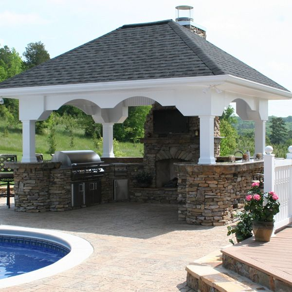 U-Shaped Custom Outdoor Kitchen U-01 | WoodlandDirect.com: BBQ Grills, Islands & Kitchens, Straight Outdoor Kitchens & Islands