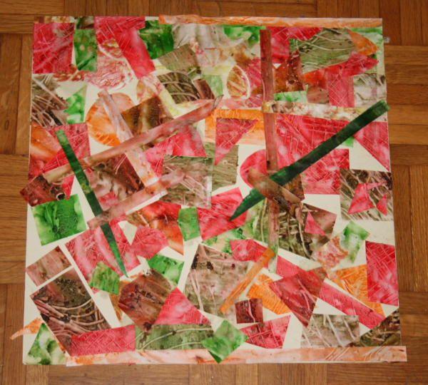 Lavoretti per bambini - collage di forme geometriche