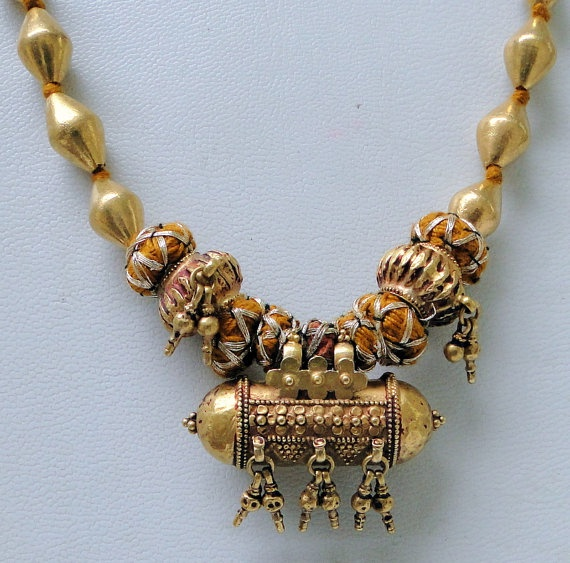 vintage antique ethnic tribal 22 karat gold beads by Amrapali, $1800.00