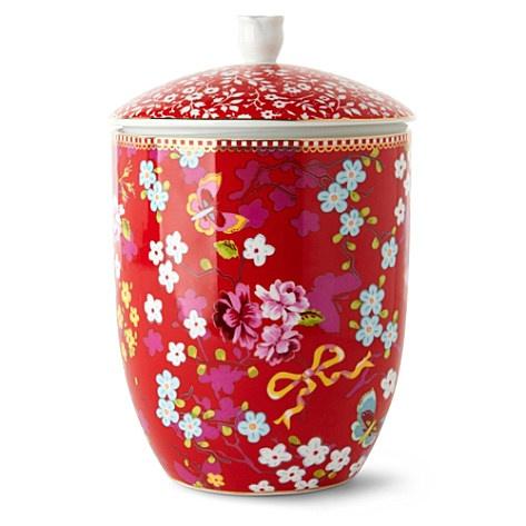 red storage jar