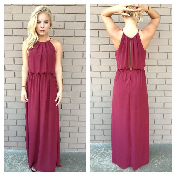 Maroon Maxi Dress