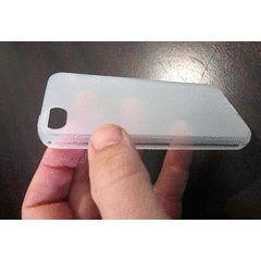 Protective Silicon Cover for iPhone 5 - Transparent Sandy Finish for R58.00