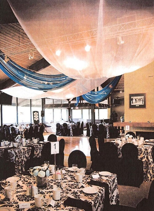 Chicopee Ski Hill's gorgeous inside spaces for weddings.