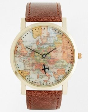 ASOS Watch With Aeroplane Second Hand