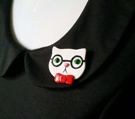 Chemistry Science Cat Meme Brooch Pin or Magnet by ClayRevolution