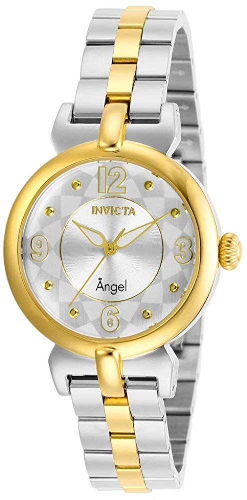 Invicta Dameshorloge Met Engelenkwarts Met Roestvrijstalen Band Tweekleurig Invicta Dames Stainless Steel Bracelet Two Tone Bracelet Watch
