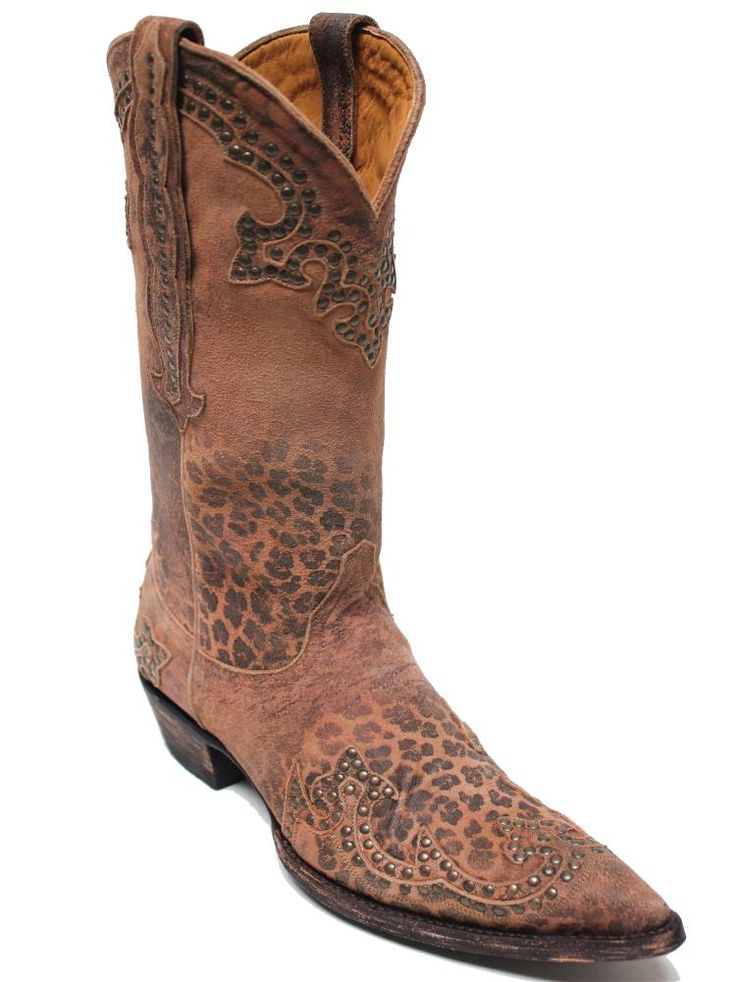 Old Gringo Clarita Leopardito Ochre Womens Boots L148-110 | The very popular  Leopardito leather