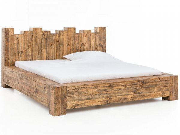 Holzbett Kingsburgh In 2020 Bett Rustikal Holz Holzbett Und