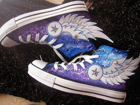Galaxy Converse shoes Custom Converse Galaxy Converse Sneakers Hand-Painted On Converse Shoes canvas shoes