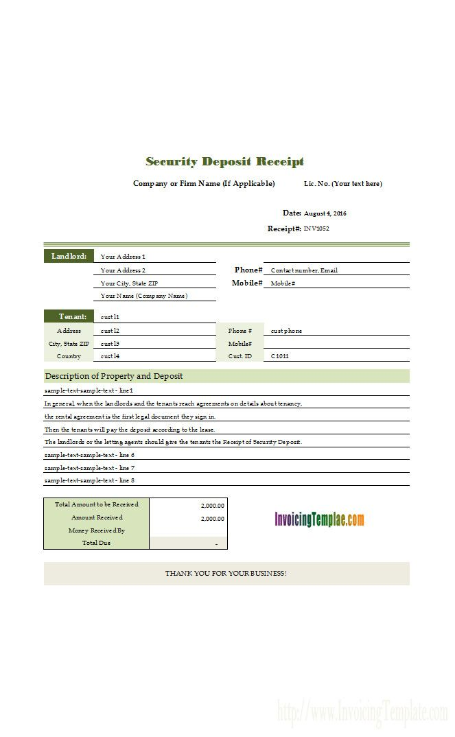 40 Fee Receipt Format In Word Al0h Invoice Template Receipt Template Sample Resume
