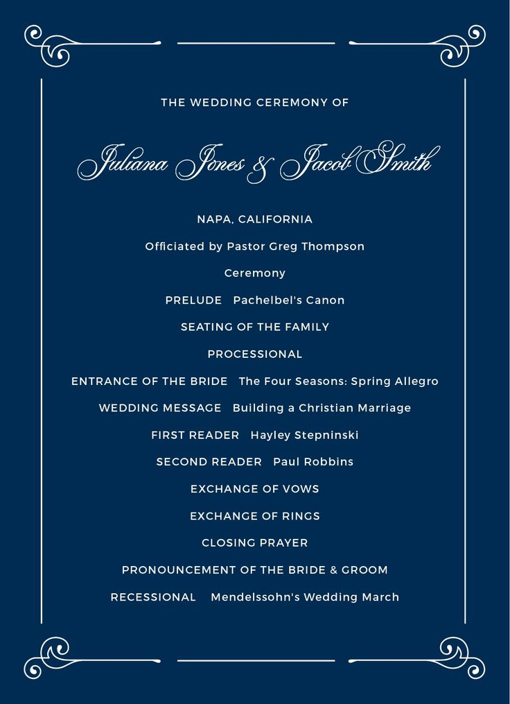 Contemporary Frame Wedding Programs
