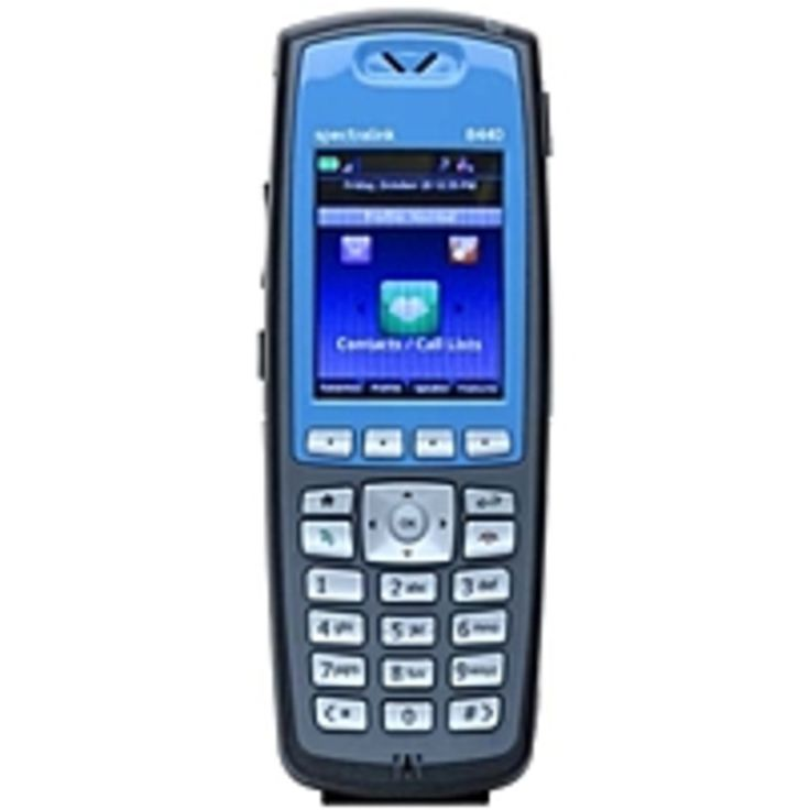 Spectralink 8440 Handset - Cordless - Wi-Fi - 1000 Phone Book/Directory Memory - 2.2 Screen Size - USB - Headset Port - 8 Hour Battery Talk Time - Blue