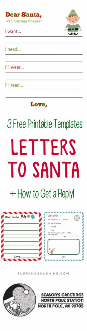 Best  Santa Reply Letters Ideas On   Santa Address