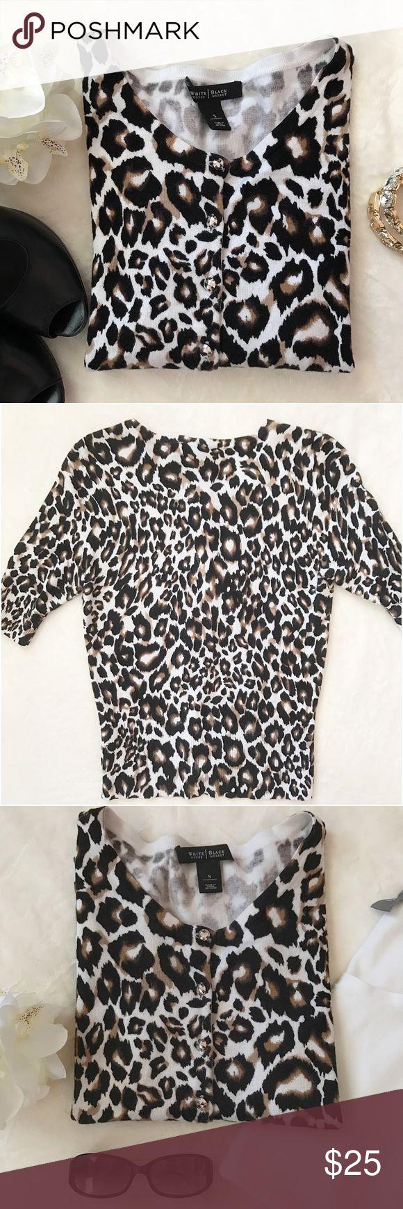 Selling this WHITE HOUSE BLACK MARKET Leopard Sweater on Poshmark! My username is: sweetride. #shopmycloset #poshmark #fashion #shopping #style #forsale #White House Black Market #Sweaters