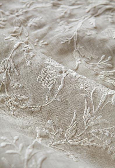 Fiorentina Embroidery in Oat, 67821. http://www.fschumacher.com